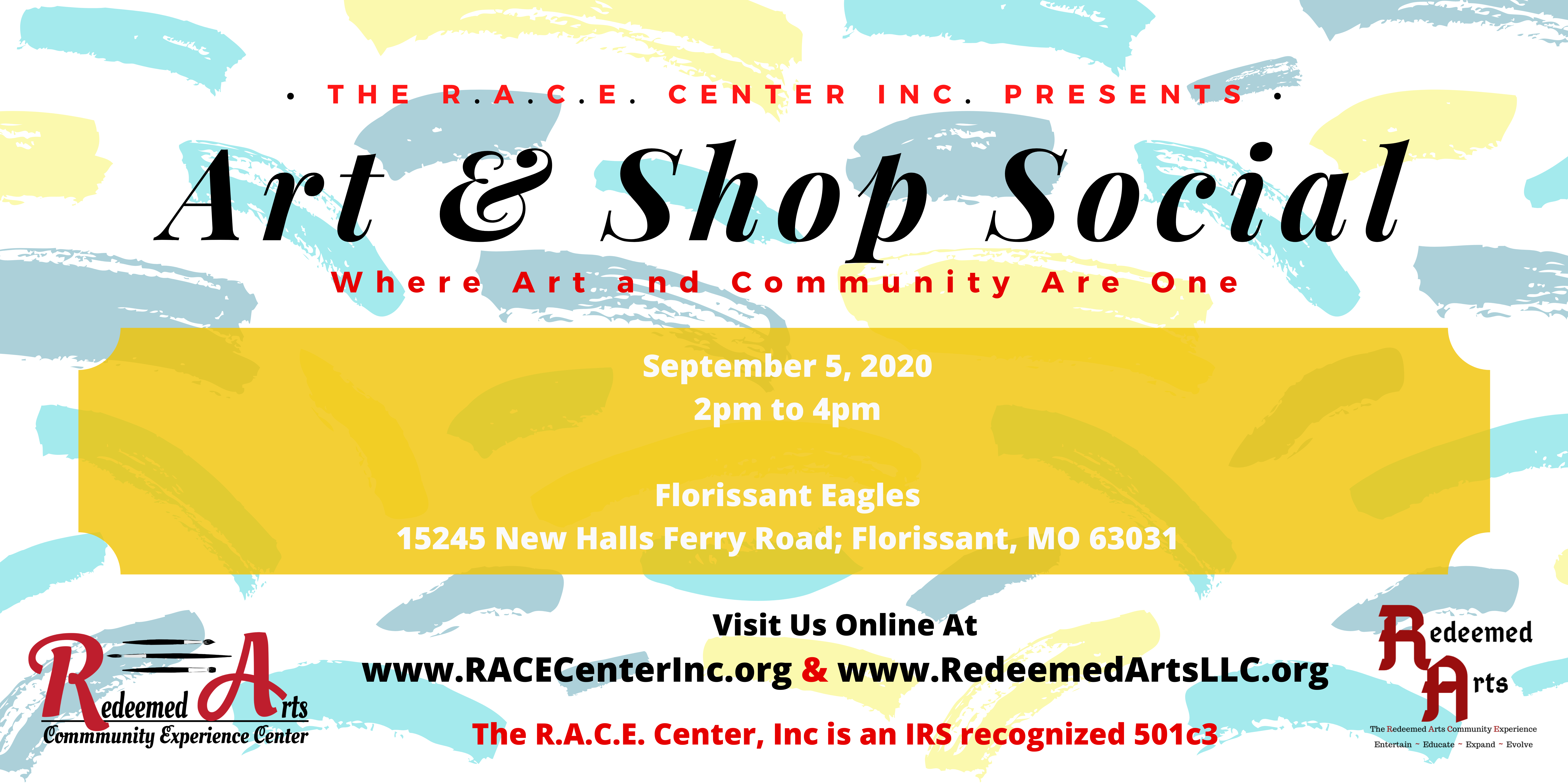 Art & Shop Social with Date MEDIUM